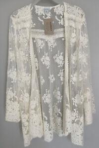 """NWT Sundance Catalog Ivory """"Divine Lace Kimono"""" Size XS $138"""