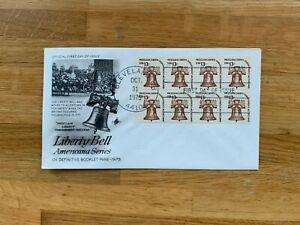 USA US 1975 FDC ART CRAFT BOOKLET PANE x 8 LIBERTY BELL 13 CENT