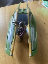 More details for star wars green ship hasbro 2002 lucas film vehicle of  zam wesell