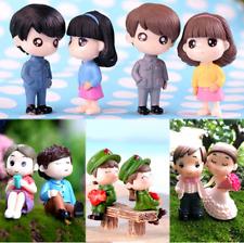2Pcs/Set Miniatures Lovers Couple Figurines Home Decoration Crafts Fairy Garden