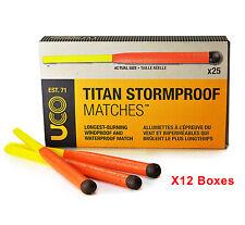 UCO Titan Stormproof Waterproof Windproof Matches 25pcs X12 Boxes = 300pcs