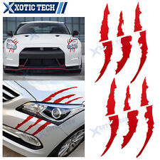 2X Red Car Graphic Decal Stickers Headlight Decor Set For Nissan 370Z Altima GTR