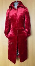 Karen Millen UK 10 Vintage Cherry Red Faux Fur Coat Jacket Party Evening EU 38