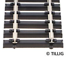 Tillig 85136 NEW BOX OF 10 ELITE STEEL SLEEPERED FLEXI TRACK HO 470MM LONG
