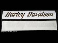 2 x HARLEY DAVIDSON style Tank decal sticker  ** CHROME **  SILVER