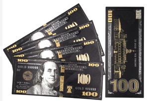 Black Gold Silver Banknote Notes Paper Coins Dollar Bill Currency Money Reserve