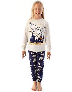 Harry Potter Pyjamas Girls Hedwig Long Sleeve T-Shirt & Fleece Trousers PJ Set