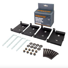 Powertec Caster Plates 4 Pack Quick Release Wheel Installation Hardware Tool Set