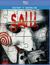 Saw: The Complete Movie Collection (Blu-ray, 2014, 3-Disc) **NO DIGITAL CODE**