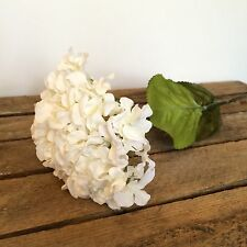 Antique White Faux Silk Hydrangea, Realistic Artificial Silk Flowers Hydrangeas