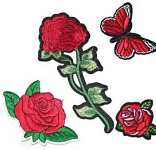 4pcs Embroidered Iron on, Sew on Patches for Clothes, Bag, Hat DIY