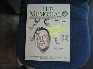 1996 THE MEMORIAL GOLF PROGRAM SIGNED BY (4) ON COVER WITH MARK O'MEARA