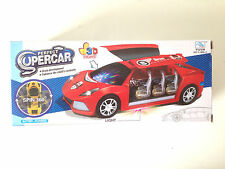 Electric Super Car Kids Toy Flashing Lights Sound Music Bump & Go Action Red