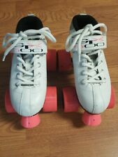 Pacer Quad Speed Skates HTC 500 Size 1 White With Pink Wheels