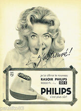 PUBLICITE ADVERTISING 125  1958  PHILIPS  rasoir  éléctrique 120S