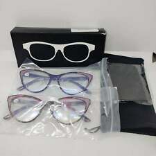 Readers pink purple glitter 1.5 magnafied reading glasses 2 pack pair