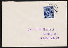 1942 Germany Regensburg to Lipzig Sc#B197 Mi#809 Single Franking