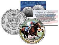 CIGAR *16 Consecutive Wins* Racehorse Colorized JFK Kennedy Half Dollar US Coin