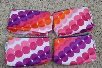 4 x Clinique Kapitza Cosmetic Makeup Bag Zipper Pouch Medium size (9*7*1 inch)