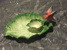 Vintage Fitz Floyd Japan 1986 Tropical Love Bird Chip & Dip 21/212 Rare Retired