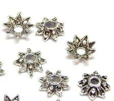 50 Perlenkappen 8mm Antik Silber Spacer Zwischenperlen Perlkappen Schmuck M236