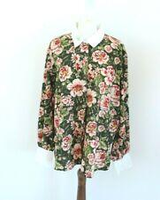 ZARA floral loose woman blouse tunic shirt size XXL