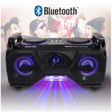 Stereo Speaker Ghetto Boombox Megasound Hi-Fi Bluetooth USB & Disco Party Lights