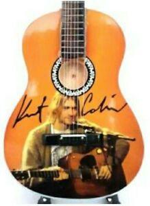 """Nirvana Kurt Cobain 10"""" Miniature Tribute Accoustic Guitar (UK SELLER)"""
