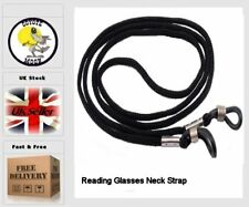 12 X BLACK HEAVY DUTY NECK CORD LANYARD GLASSES STRAP SPECTACLE UK SELLER
