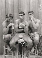 Vintage Gay Buds & Suds Photo 451 Bizarre Odd Strange