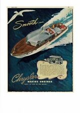 VINTAGE 1947 CHRYSLER MARINE ENGINES BOATS YACHTS WATER SEA GULL FAMILY AD PRINT