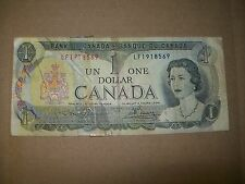 1973 CANADIAN $1 BILL / $1 BANK NOTE / LF 1918569