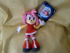 "100% OFFICIAL AMY Super Sonic The Hedgehog 8"" peluche giocattolo Sega Tomy Rosa Raro UK 1"