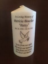 """6"""" Memorial, Wedding Candle, Funeral Candle, Tribute Candle, Unit, Pillar"""