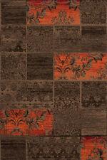 Tapis marron avec des motifs Patchwork pour la maison