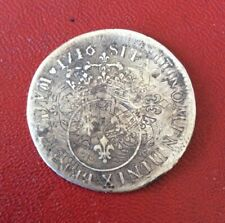 France - Louis XV - Spectaculaire 1/4 Vertugadin 1716 X - type 3couronne visible