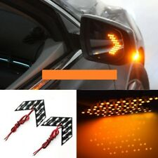 2PCS Amber Arrow Panel 14SMD LED Car Side Mirror Turn Signal Indicator Light