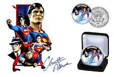 Superman-Christopher Reeve colorisée JFK demi-dollar Coin avec COA