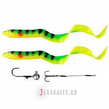 SAVAGE GEAR REAL EEL 30cm LURES X 2  AND 1 JIG HEAD AND STINGER  ! BARGAIN