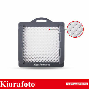 KIORA Pro White Balance Filter With Strap for Camera Lens Up to 83mm Thread Size