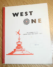 WEST ONE LONDON WEST END ROUND TABLE  MAGAZINE FOR OCT 1961 A 4 SIZE  a