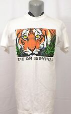 VTG Bengal Tiger Eye On Survival T-Shirt Human-I-Tees Wildlife Conservation 1993