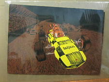 Vintage Race Car Bardahl Racing  black light Poster 1970's  3280 Condition NICE