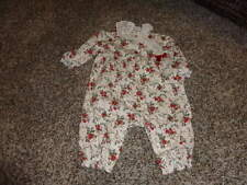 JANIE AND JACK HOLIDAY ROSE 0-3 FLORAL OUTFIT