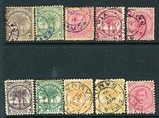 Samoa 1886 selection of 10 values GFU