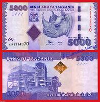 New TANZANIA 5000 Shillings 2015 series, Pick 43 NEW SIGN  SC  / UNC