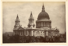 G.W.W. Royaume-Uni, St. Paul's Cathedral from Blackfriars  vintage albumen