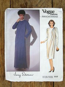 Vogue American Designer Pattern 1117 Jerry Silverman Dress Size 12 Bust 34 UNCUT