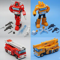 Transformers MFT MF45 Inferno With MF46 Grapple Mini Action Figure Toys In Stock