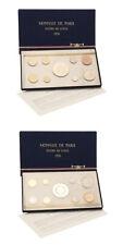 France Monnaie de Paris Fleur de Coin Set 9 Specimen Coins 1976 Mint Packaging S